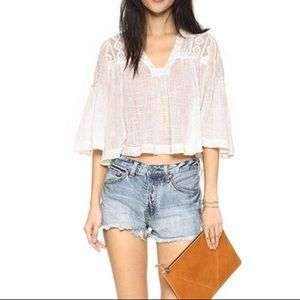 Free People Button Fly Denim Shorts sz 27